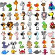 Cartoon animals — Vector de stock #13880558