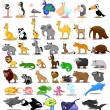 Extra large set of animals — Stock Vector #13880706