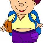 Cartoon cute schoolboy — Stock Vector #13881812