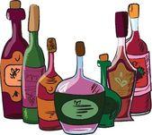 ワインのボトルのベクター コレクション — ストックベクタ