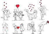 Sposo, sposa e foto matrimonio — Vettoriale Stock