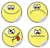 Set of six expressions of emotion — Stock Vector