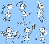 Ikona kreskówka sportowa — Wektor stockowy