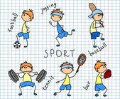 Cartoon sport icon — Stock Vector