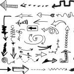 Various arrows seamless pattern — Stock Vector