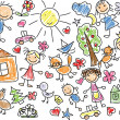 Vector de stock : Childrens drawings