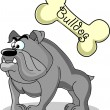 Cartoon dog breed bulldog - Stock Vector