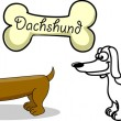 Royalty-Free Stock Векторное изображение: Set cartoon dogs of different breeds