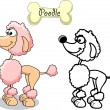 Royalty-Free Stock Imagen vectorial: Set cartoon dogs of different breeds