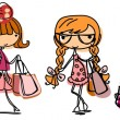 Royalty-Free Stock Vector Image: Cartoon cute girl fashionista