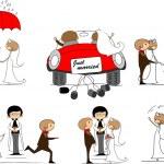 Cartoon wedding pictures — Stock Vector #14074396