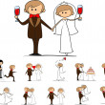 Cartoon wedding pictures — Stock Vector #14074425