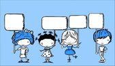 可爱的孩子定格帧 — 图库矢量图片