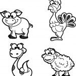 SET cute animals — Stock Vector #14764655