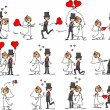 Set of wedding pictures — Stock Vector #14764859