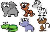 SET cute animals — Stock Vector