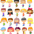 Set cartoon children, pupils — Stock Vector