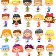 Stock Vector: Set cartoon children, pupils