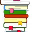 Royalty-Free Stock Векторное изображение: A vector illustration of students and books