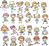 Lindos niños felices — Vector de stock