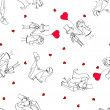 Wedding pattern seamless - Image vectorielle