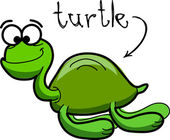 Sea turtle, vector illustration — Stock Vector