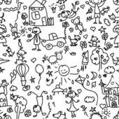Barn mönster sömlösa — Stockvektor