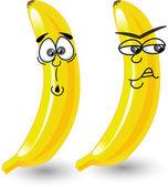 Cartoon bananas with emotions — Stock Vector
