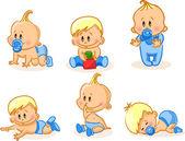 Vektor-illustration von baby jungen — Stockvektor