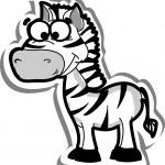 Cute cartoon zebra — Stock Vector #19468491