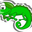 Cute cartoon lizard - Stock Vector