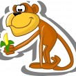 Cute cartoon monkey — Stock Vector