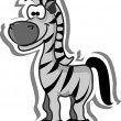 Cute cartoon zebra — Stock Vector