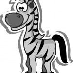Cute cartoon zebra — Stock Vector #19469767