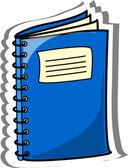 Cartoon school notebook — Stock Vector