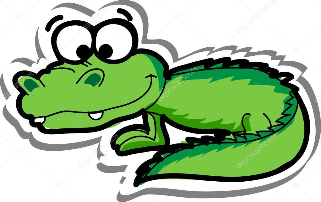 Crocodile dessin anim mignon image vectorielle virinaflora 19468467 - Dessin anime crocodile ...