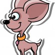 Cartoon chihuahua — Stock Vector