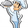 Royalty-Free Stock Vector Image: Cartoon chef