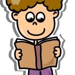 Cartoon cute schoolboy — Stock Vector #19810569