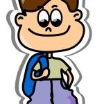 Cartoon cute schoolboy — Stock Vector #19810583