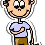 Cartoon cute schoolboy — Stock Vector #19810593