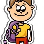 Cartoon cute schoolboy — Stock Vector #19810597