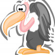 Cartoon vulture - Stock Vector