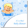 Vector illustration of baby boy — Stock Vector