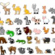 Large set of animals — Stock Vector #19810749