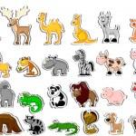 Big set of cartoon animals — Stock Vector #19810783