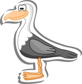 Cartoon seagull — Stock Vector