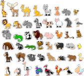 Stor uppsättning djur — Stockvektor
