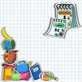 škola pozadí, vektorové kreslení — Stock vektor