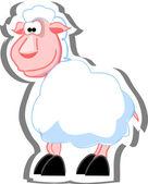 Cartoon sheep — 图库矢量图片